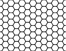 Beehive Pattern Amazing Black Honeycomb Pattern Isolated On A White Stock Photo Picture And