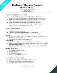Bartender Sample Resume Examples Sample Bartender Resume