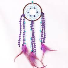heart dream catcher wind chime home decoration accessories feathers car wall hanging decor ornament