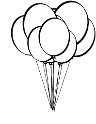 Balloons Coloring Page Fashionpost Co