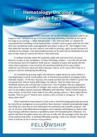 Oncology Fellowship Personal Statement Sample ...