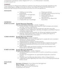 Hr Resume Objective Human Resources Generalist Resume Human ...