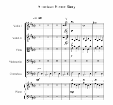 american horror story sheet for violin piano horror violin sheet