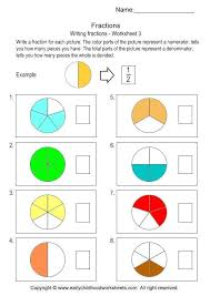 Writing Fractions Worksheet 3 Fraction Worksheets For Kindergarten ...