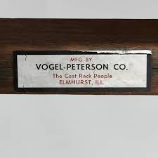 vintage vogel peterson standing coat rack for at 1stdibs