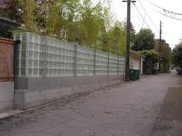 glass block fence after
