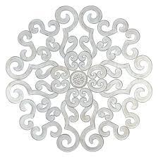 metal wall medallion oversize white scroll wall medallion round art metal iron swirl stratton home medallion