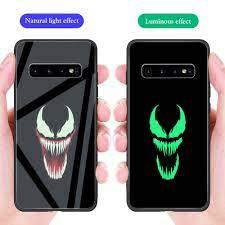 Ốp Điện Thoại Kính Cường Lực Dạ Quang In Hình Truyện Tranh Mỹ Cho Samsung  Note 20 10 9 8 A30 A6 J7 J6 J4 Plus Prime 2018 Lite Ultra
