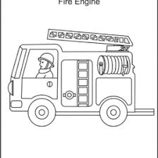 Small Picture Coloring Page Of Firetruck For Preschool Archives Mente Beta