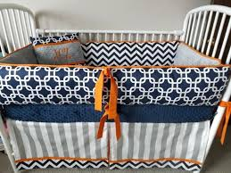 blue and grey crib bedding baby