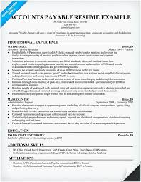 Accounts Payable Resume Examples 29 Best Accounts Payable Resume Sample For Your Inspiration