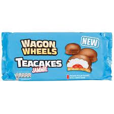 wagon wheels 8pk teacakes jammie 120g