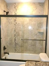 tub shower combo tile ideas bathroom white wall mounted soaking bathtub granite walls