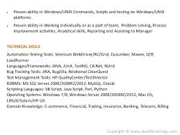 ... Trading and Telecom domains; 6.