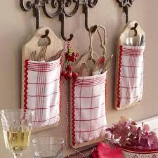 diy kitchen storage ideas cutlery wall hanging pockets