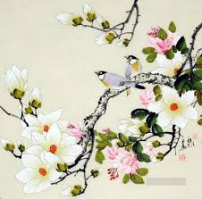 chinese bird flower works painting