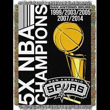 Spurs Throw Blanket