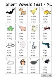 Vowels are speech sounds that we can create with an open vocal tract. Very Young Learners Short Vowels Test English Esl Worksheets For Distance Learning And Physical Classrooms