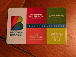 50 gift card bloomin brands outback steakhouse bonefish fleming s carrabba s 1 of 1 see more