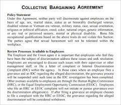collective bargaining agreement template