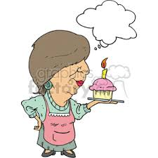 Image result for cartoon illustration of woman baking cake