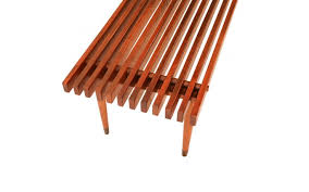 slatted wood bench coffee table