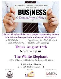 networking flyer stellar networking event flyer the white elephant 081315