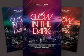 glow flyer glow in the dark flyer by stylewish design bundles