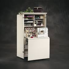 Tailormade Sewing Cabinet Amazoncom Sauder Harbor View Craft Armoire Antiqued White