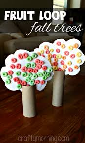 Toilet Paper Roll Fall Tree Craft Using Fruit Loops  Crafty MorningFruit Loop Tree
