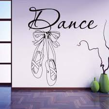 es wall stickers modern nordic art design ballet shoes removable vinyl decals for kids girl