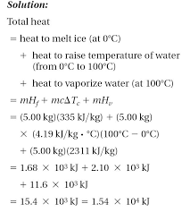 heating curve solution