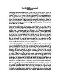 english short story coursework gcse english marked by teachers com page 1 zoom in marked by a teacher