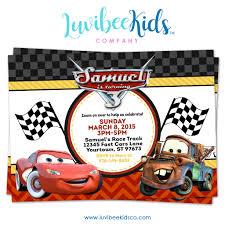 Cars Lightning Mcqueen Birthday Invitation Style 2 Disney Cars