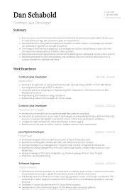 Java Developer Resume Samples Templates Visualcv