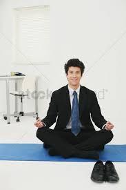 meditation office. 1855027 Office Meditation : Businessman Meditating In