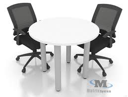 discussion table c w round metal leg