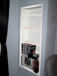 Built In Drywall Shelves How To Create Recessed Shelving 9 Steps