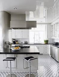 architect mark ferguson devised the marble and granite kitchen floor in this new york decorated by pamplemousse design