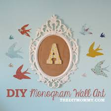 Baby Monogram Wall Decor How To Make Diy Monogram Art For A Nursery From An Ikea Frame And