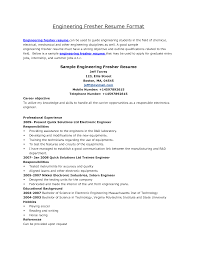 Resume Samples For Freshers Mechanical Engineers Pdf Resume