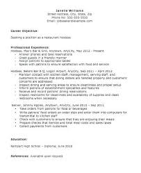 Hostess Resume Examples Food Service Experience Job Host Sample ...
