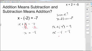 solving one step equations with addition and subtraction algebra how to help