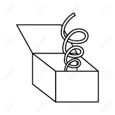 面白いオモチャ箱分離アイコン ベクトル イラスト デザイン