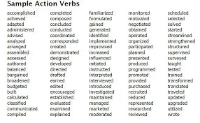 Verbs Used On Resumes Cipanewsletter