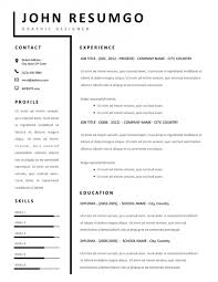 Professional Resume Template Download Free Template Cv Professional Template Free Download Free Resume