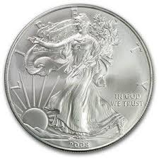 2008 1 Oz Silver American Eagle Coin Gold And Silver