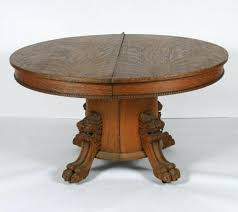 antique oak claw foot pedestal table amazing great antique oak round pedestal table with 2 leaves