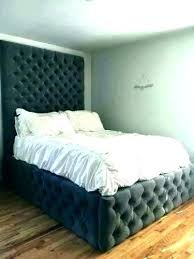 Queen Platform Bed Frame With Headboard Tall Extra High – hobzpmedia ...