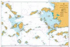 Steno Chart 1095 Aegean Sea Greece And Turkey Steno Kafirea To Rhodes Channel